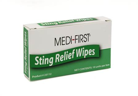 Insect Sting Wipes - 10/box