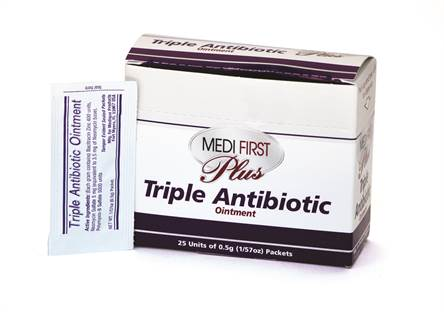 Triple Antibiotic Ointment .5g - 25 pk/box