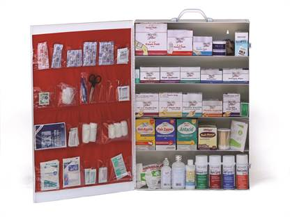 Stocked First Aid Cabinet - 5 Shelf