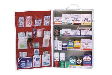 Stocked First Aid Cabinet - 4 Shelf