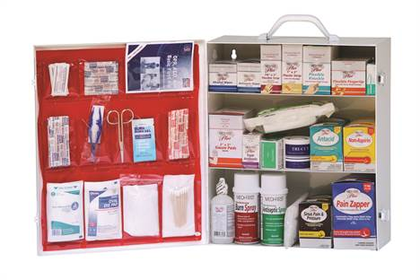Stocked First Aid Cabinet - 3 Shelf