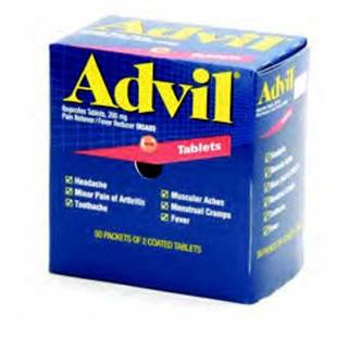 Advil 2 Pack - 100/box (2 Pack, 50 Count)