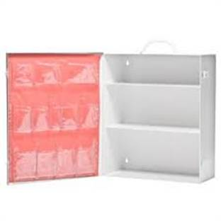 3 Shelf Metal Empty First Aid Cabinet With Pocket