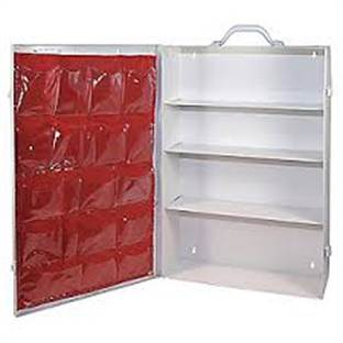 4 Shelf Metal Empty First Aid Cabinet With Pocket